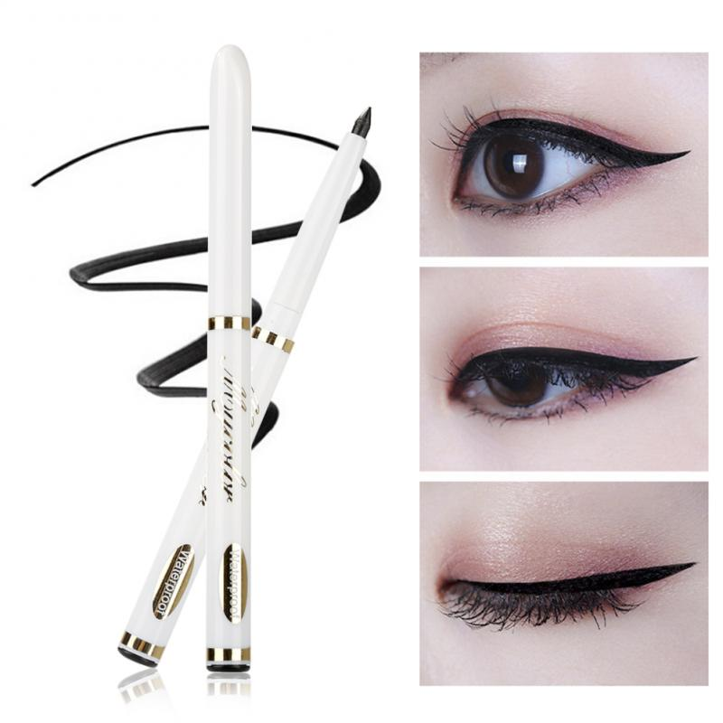 Black Eyeliner Pen Retractable Waterproof Eye Shadow & Liner Pencil Natural&Long-lasting Eye Maquiagem Cosmetic Makeup Tool