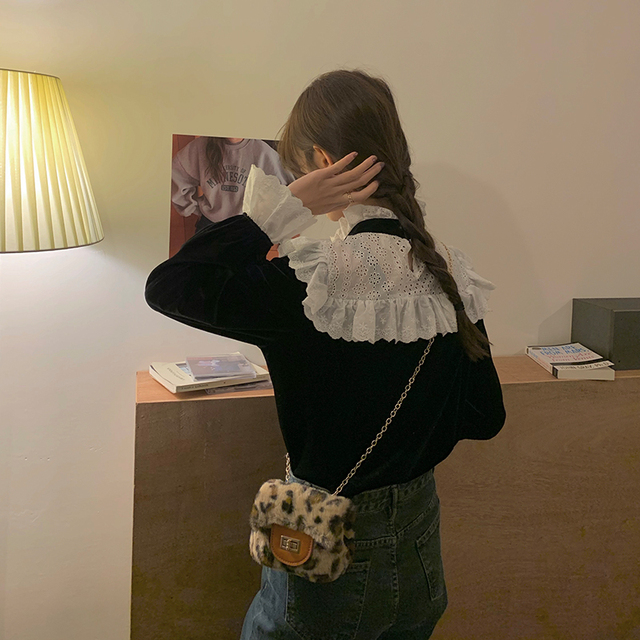 Ruched Ruffle Spliced Korean Blouses For Ladies Spring Long Sleeve Shirt Stand Collar Vintage 2021 Shirts Female Blusas Ins Tops 6