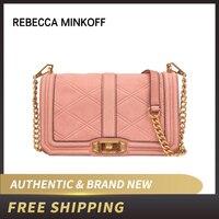 Authentic Original & Brand new Luxury Rebecca Minkoff Embossed Nubuck Love Crossbody Bag Women's Handbags HU18SLNX08/HS18ICQX08
