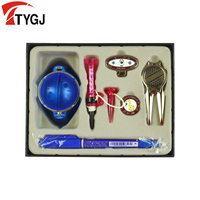 TTYGJ Professional Golf Nail Scriber Greens Fork Mark Hat Clip Ball TEE Gift Box Set Golf Accessories Six Pieces High Quality