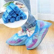 100/200/500 шт одноразовые пластиковые чехлы для обуви