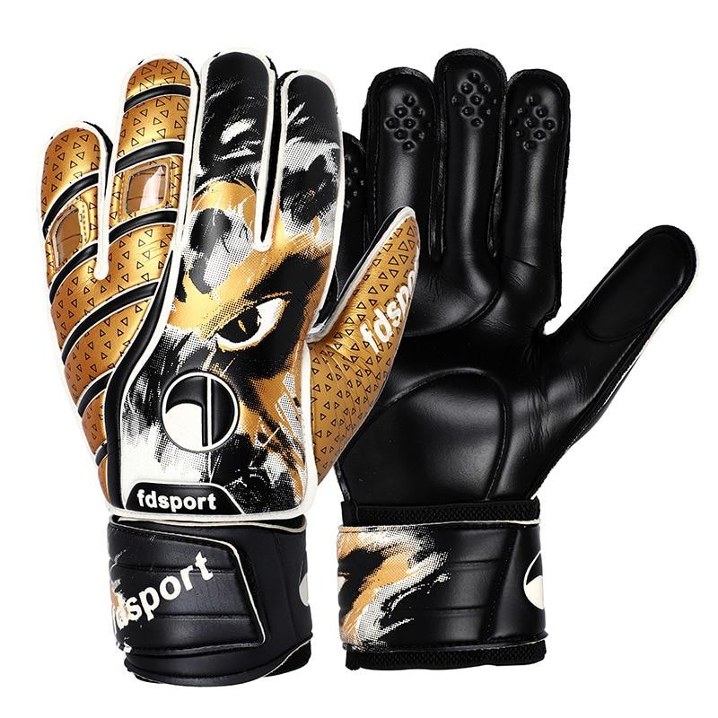Новые латексные перчатки для футбольного вратаря, защитный комплект для вратаря, тренировочные перчатки для вратаря, противоскользящие пе...
