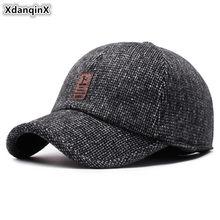 Xdanqinx inverno de meia-idade idosos chapéu quente grosso quente bonés de beisebol moda masculina earmuffs chapéus marca boné snapback