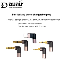 DUNU Self locking Quick changeable Plug TYPE C 3.5 Single ended 2.5/3.5PRO/4.4 Balanced Connector for Android USB C Phone