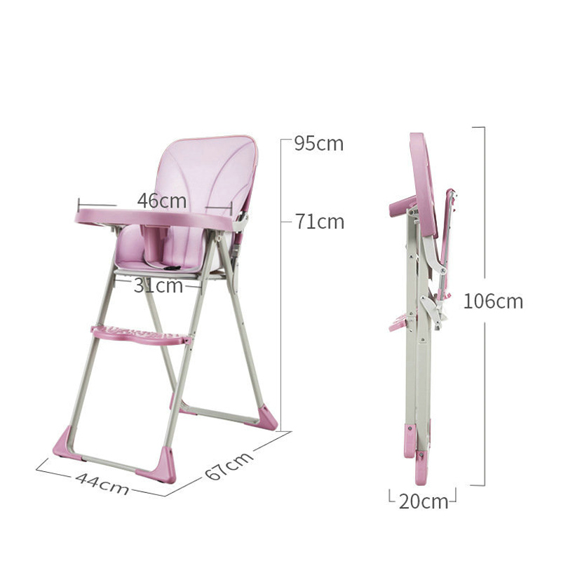 High Chair Children Dining Chair Feeding For Boys And Girls Dining Chair Newborn Dual Purpose Folding Baby ChairTable
