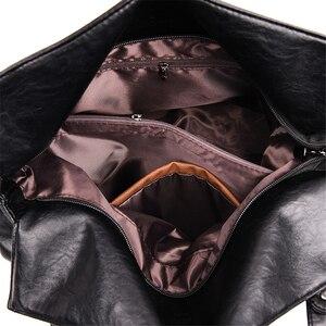 Image 5 - Sacos de Mão das senhoras Saco Bolsa 2019 Estilo Vintage Mulheres Bolsas de Couro bolsas de luxo mulheres sacos Designer de Grande Capacidade Sacola