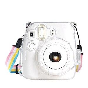 Image 3 - حافظة كاميرا محمولة سهلة الاستخدام ضد الغبار مع حزام شفاف خفيف الوزن وقائي عملي لجهاز Instax Mini 8 9