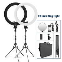 RL 20A 20 inch LED Ring Light Photographic Lighting Makeup Mirror Ring Lamp Bi color 3200K 5500K Video Annular lamp with Tripod