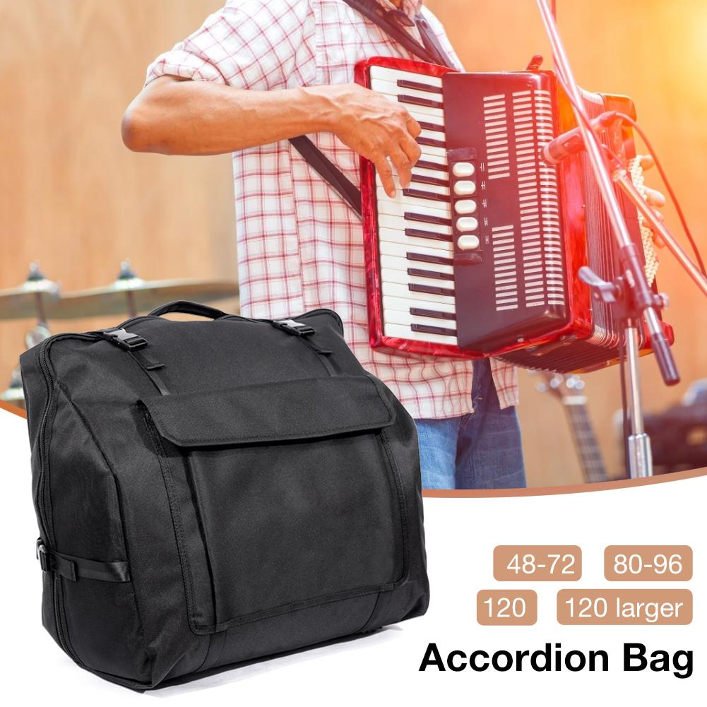 Accordion Gig Bag Accordion Oxford Fabric Storage Bag For 48/60/72/80/96/120 Bass Piano Accordions Package Accessories