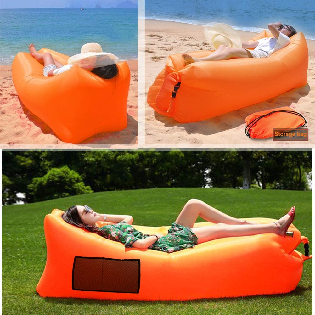 Camping inflatable Sofa lazy bag 3 Season ultralight down sleeping bag air bed Inflatable sofa lounger trending products 2019