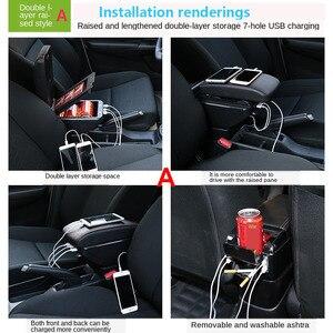 Image 5 - صندوق مسند ذراع السيارة أوبل كورسا D ، مسند ذراع السيارة الداخلي ، أجزاء محدثة ، ملحقات ، مصابيح LED USB