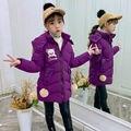 Зимние детские парки для девочек от 2 до 13 лет; теплая куртка с подкладкой из хлопка для маленьких мальчиков; пальто; Рождественская верхняя ...