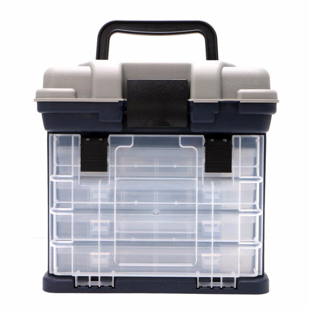 5 camada de pesca caixa de equipamento plastico lidar com caixas de pesca carpa ferramentas de