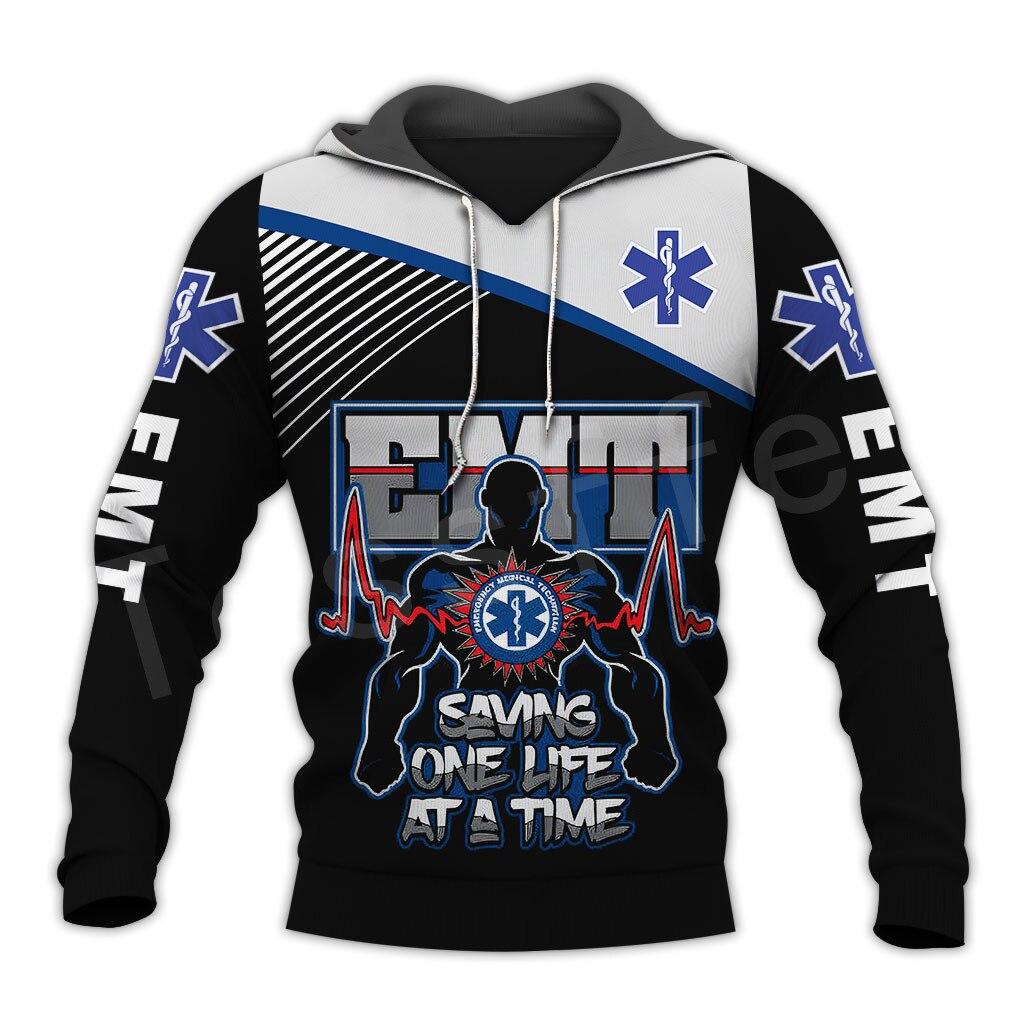 Tessffel Emergency Medical Technician EMT EMS Paramedic NewFashion Unisex Pullover 3DPrint Sweatshirt/Hoodies/zipper/Jacket s-15