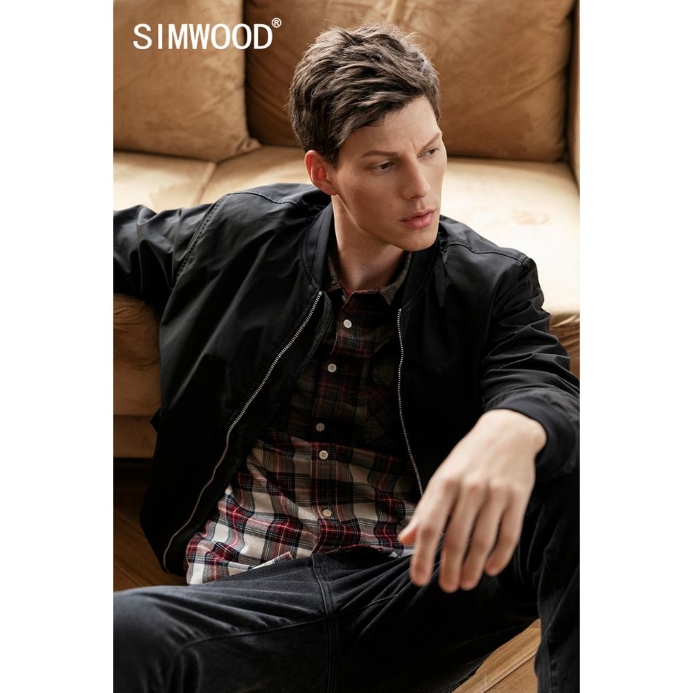 SIMWOOD 2020 New Spring Jacket Men Winter Back Letter Embroidered Fashion Casual Coats Brand Clothing Chaqueta Hombre SI980514