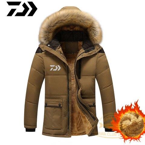 quente casaco grosso inverno jaqueta de pesca