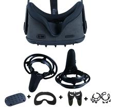4in1 360 ° Full Body Protettiva Della Copertura di Caso Della Pagina Del Silicone Viso Maschera Per Oculus Quest Coperchio Della Testa di Presa di Controllo Della Pelle accessori