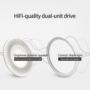 Image 3 - מקורי Lenovo DP20 אוזניות כפול קול יחידה HIFI לבן אוזניות באוזן Wired אוזניות עבור טלפון נייד אנדרואיד Xiaomi Lenovo