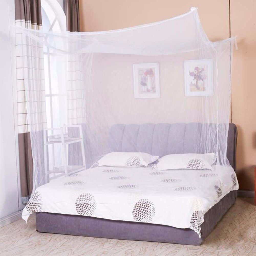 1 шт., навес Moustiquaire, белый, четыре уголка, Студенческая балдахина, кровать, москитная сетка, королева, король, двойной размер, 2018
