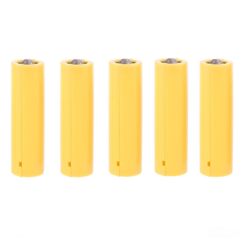 5Pcs LR06 AA Size Dummy Fake Battery Setup Shell Placeholder Cylinder Conductor
