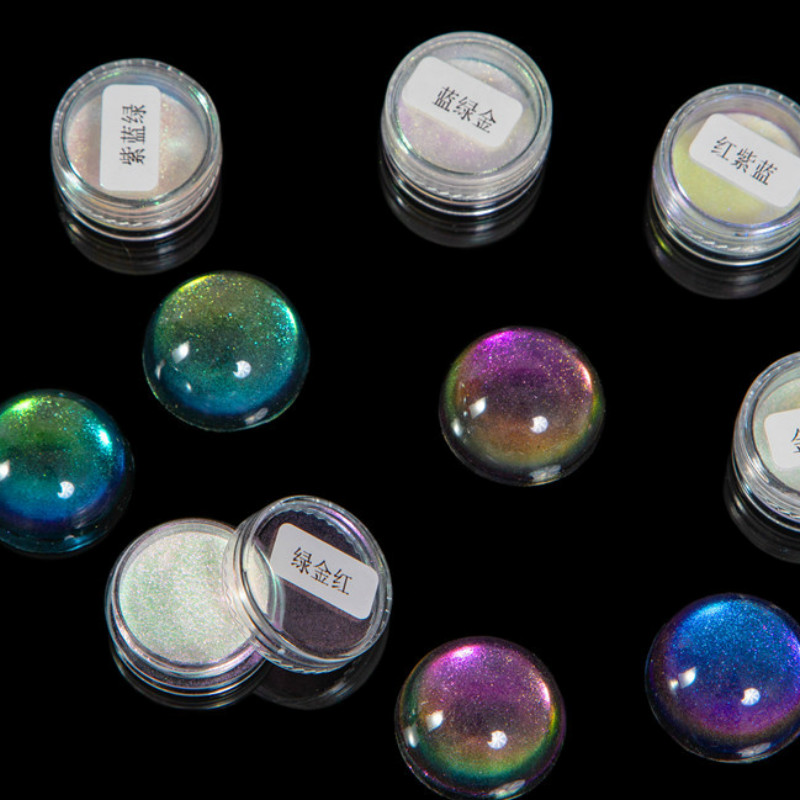 Galaxy Chameleon Pigment Coloring Flakes Magical Resin Colour Shifting Chrome Pigment Decoden Jewelry Making Coloring UV Resin