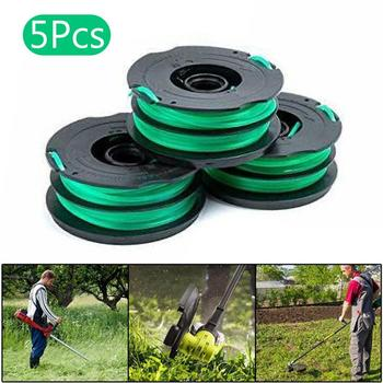 5Pcs Durable Grass Trimmer Replacement Dual Nylon Line Spools for Black Decker DF-080-BKP Grass Trimmer Accessories image