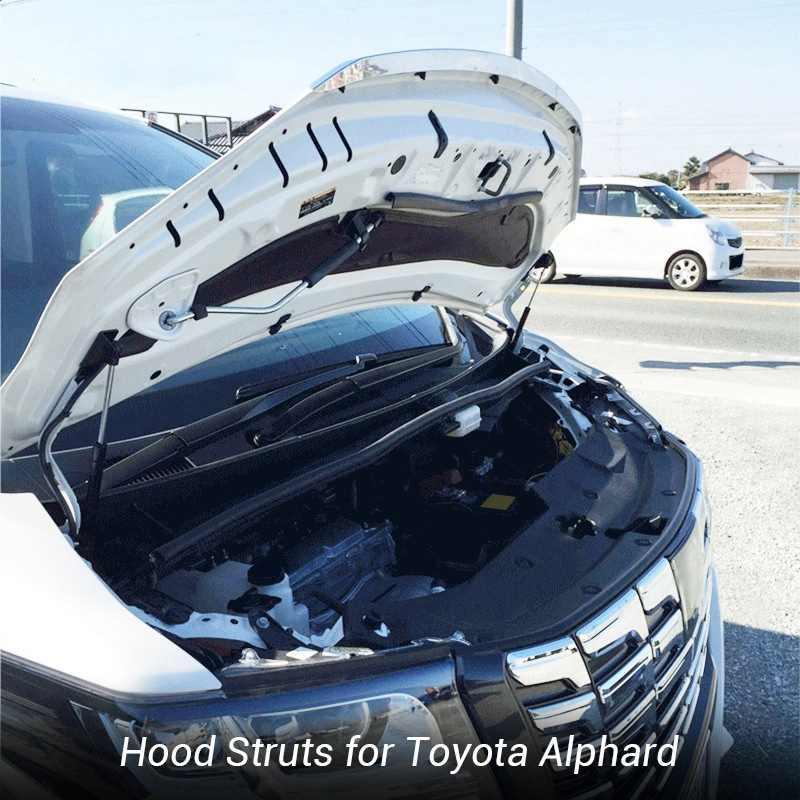 สำหรับ Toyota ALPHARD Ah30 Ah20 2015-2018 ด้านหน้าเครื่องยนต์สนับสนุนไฮดรอลิก Rod Lift Strut Shock บาร์ Bracket รถ Styli