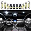 For 2011-2017 Chrysler 200  White car accessories Canbus Error Free LED Interior Light Reading Light Kit Map Dome License Lamp 2