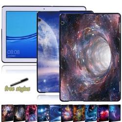 Ciel étoilé tablette étui adapté pour Huawei MediaPad T5 10 10.1 pouces tablette étanche à la poussière housse tablette accessoires