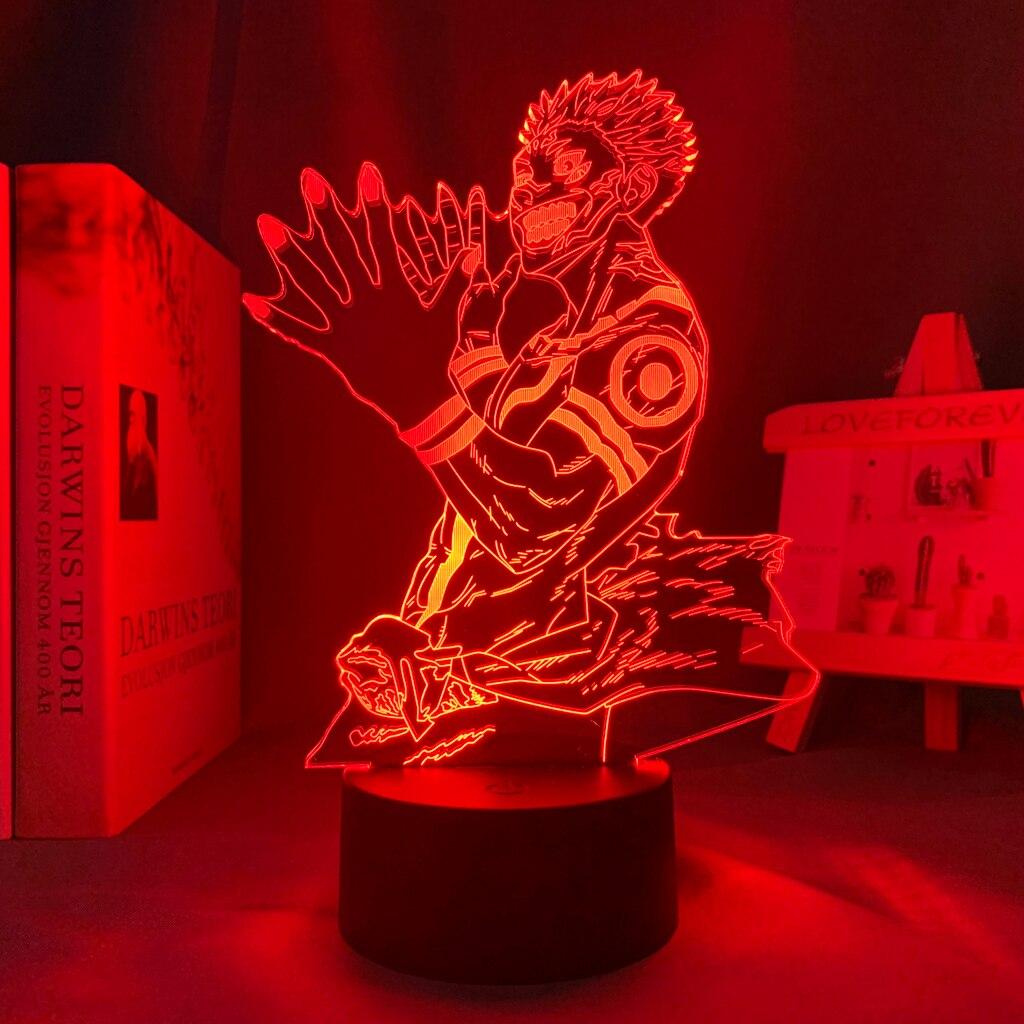 H77c09d5d1cc546b582e2e6dfff3f4b5aB Luminária Luz da noite do diodo emissor de luz da noite para o presente de aniversário jjujutsu kaisen nightlight ryomen sukuna lâmpada