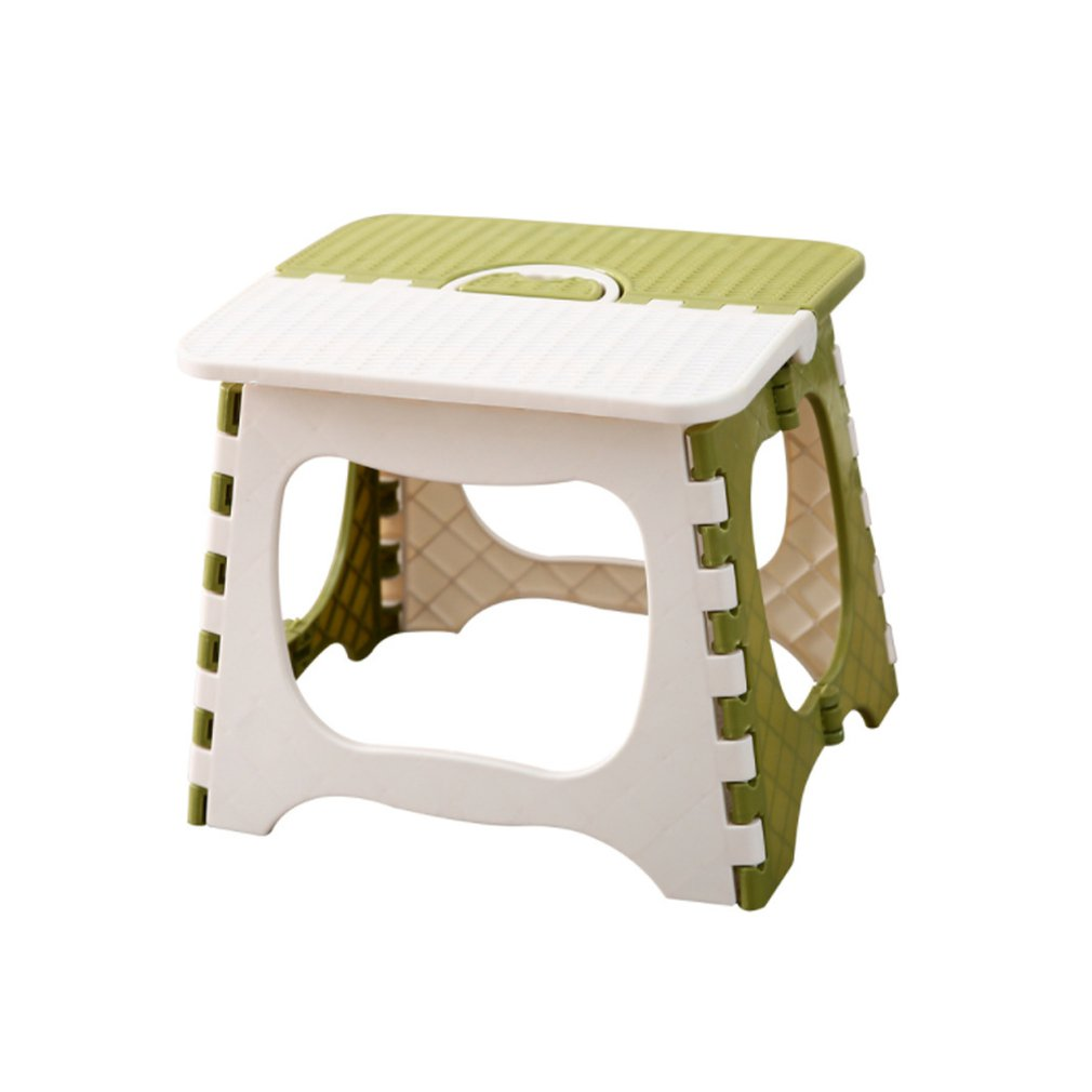 Fashion Fold Step Stool Plastic Portable Bench Chair Bench Home Random For Unisex Outdoors Bathroom Travel Easy Storage
