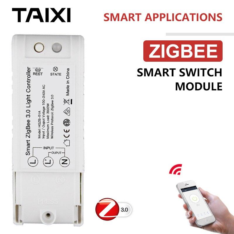 ZigBee Controller Switch Wireless Home App Control Light Device Mini Smart Module Installation-free Light Switch