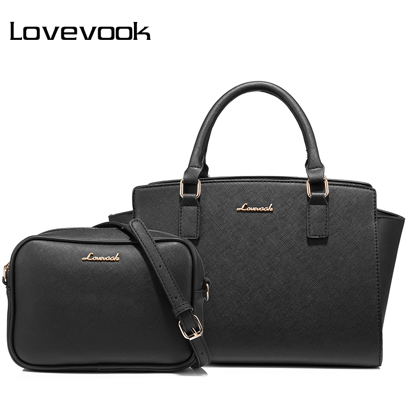 LOVEVOOK Women Bag Female Handbags Large Ladies Messenger Bags High Quality PU Shoulder Crossbody Bag Small Purse Bag Set 2019