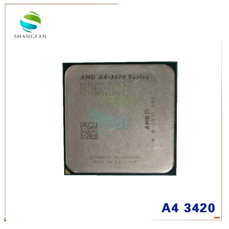 AMD A4-3400 Series A4-3420 A4 3420 2.8 GHz Dual-Core CPU Processor AD3420OJZ22HX Socket FM1