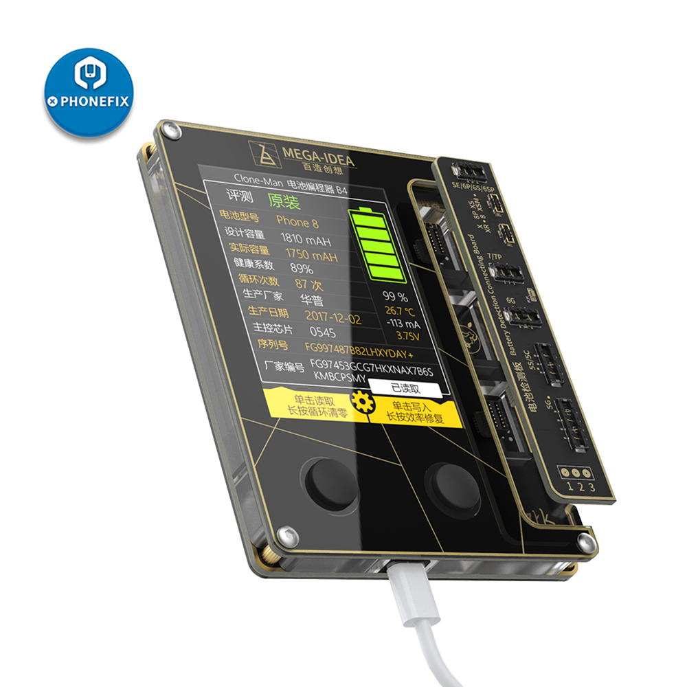 Qianli Battery Repair Programmer For IPhone 5 5S 6 6P 6S 6SP 7 8 X XS MAX XR Battery Data Write Read MEGA-IDEA Battery Tester