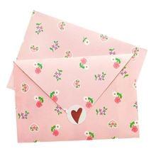 100 шт розовый конверт цветочное окно подарок девушка Канцтовары