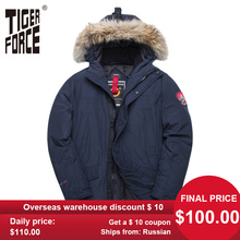 TIGER FORCE Alaska Winter Jacket for Men Parka Waterproof Thicken Coat