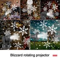 Fiocco di neve da interno a LED proiettore Laser da neve in movimento lampada di natale lampada da proiezione lampada da proiettore a fiocco di neve rotante luce calda