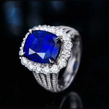 Fashion Charm Rings Inlay Shine Crystal Cubic Zircon Europe Americe Adjustable Jewelry Women's Party Gift Wedding Eternity Ring