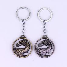 Arcade Game Mortal Kombat Keychain For Keys Men Car Women Bag Accessories Dragon Totem Keyring Pendant Fans' Souvenir Gift