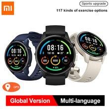 Original xiaomi mi relógio gps smartwatch bluetooth freqüência cardíaca fitness monitor de oxigênio no sangue à prova dwaterproof água relógio inteligente versão global