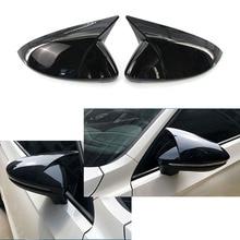 Глянцевая черная крышка для зеркала заднего вида, сменная крышка для VW GOLF 7 MK7 MK7.5 GTI R GTE GTD 2013 - 2018 Touran
