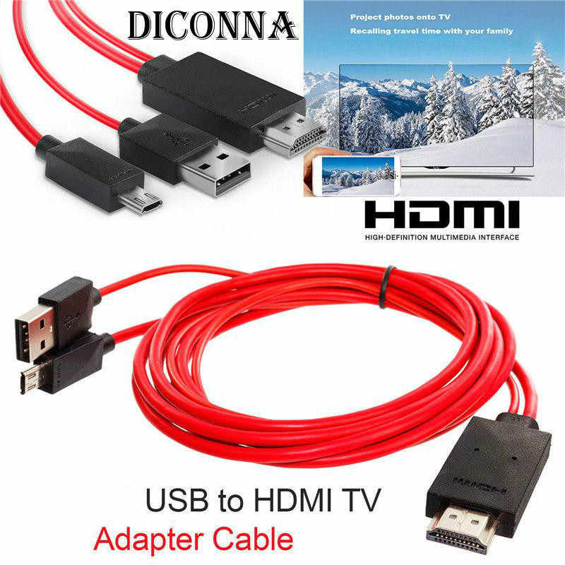 Android Telepon Antarmuka untuk HDMI Adapter Micro USB Ke HDMI 1080P HD TV Kabel Adaptor untuk Android Samsung Ponsel 11PIN