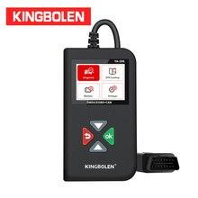 KINGBOLEN YA206 קוד קורא OBDII/EOBD סוללה מבחן YA 206 אוטומטי אבחון כלי OBD2 סורק עדכון חינם PK CR3001 AL319