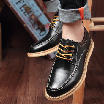 Hidden Heel 6cm Man Shoes Leather Genuine Elevator Shoes for Men Full Grain Cow Leather Lace Up Casual Formal Dress Brown Shoes us6 10 crocodile grain round toe boots men full grain leather lace up office shoes retro winter man formal dress ankle boots
