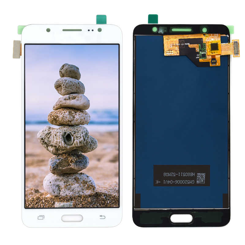 سطوع Adjustbale شاشات lcd لسامسونج J5 2016 SM-J510F J510FN J510M J510Y J510G J510 شاشة الكريستال السائل + مجموعة المحولات الرقمية لشاشة تعمل بلمس