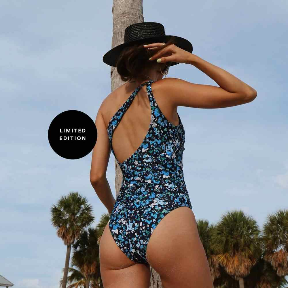 Backless Monokini strój kąpielowy body sportowe plaża 2020 Sexy głębokie V jednoczęściowy kostium kąpielowy damski kobiety Vintage Holow Out Back Swimsuit