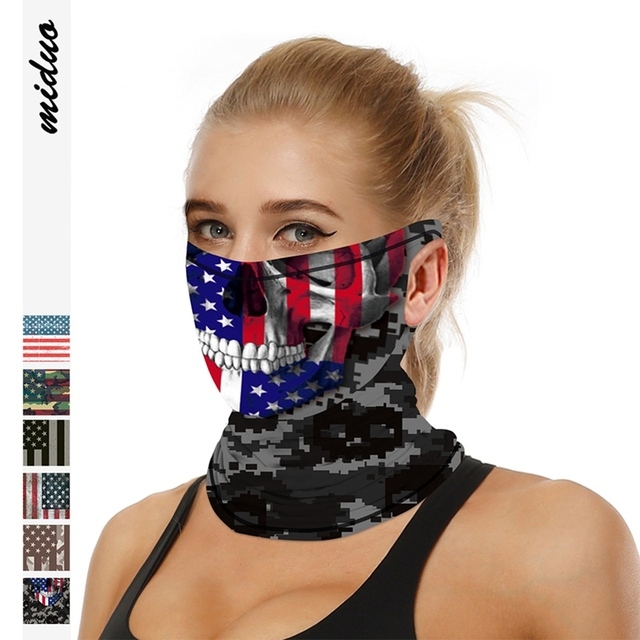 Multifunction Face Coverings American flag outdoor sports breathable mask cool and comfortable scarf magic turban Unisex 4