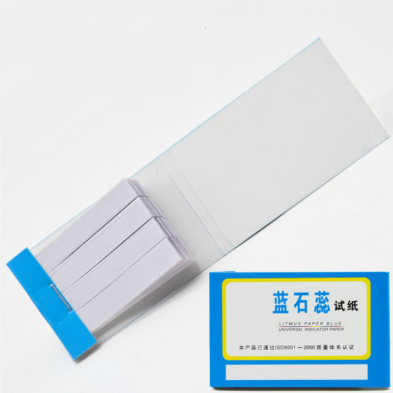 80 Strips Blue Litmus Test Paper Acid Test Paper Indicator Paper Chemical Laboratory Supplies Experimental Supplies