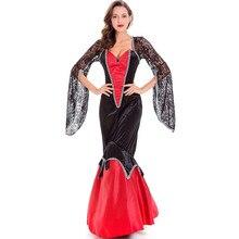 Кружевной привлекательный благородный костюм ведьмы вампира для взрослых, роскошный костюм на Хэллоуин, карнавал, двор, ведьма вампира, кор...
